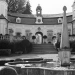 Buchlovice, dziedziniec
